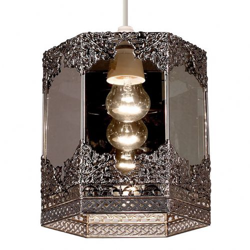 Non Electric Mirror Panel Pendant, Pewter Finish NE-96061